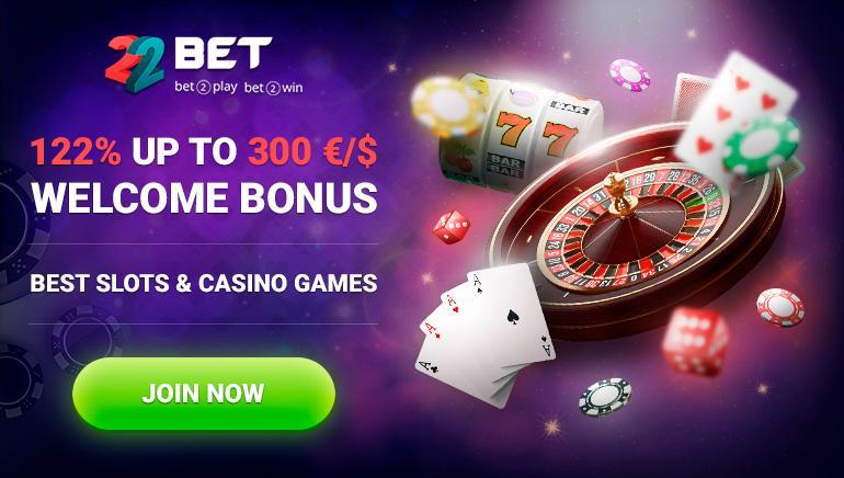 Bônus do casino 22bet